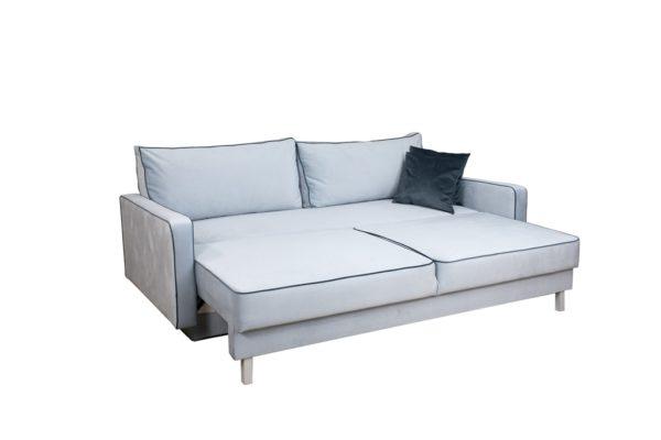 Прямой серый диван Парма