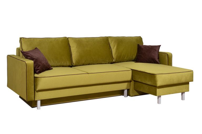 Горчичный диван