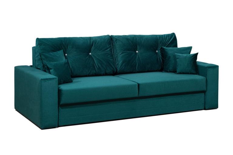 Яркий прямой диван